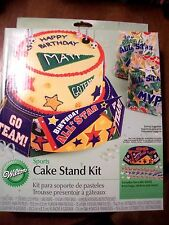 Wilton Sports Cake Stand Kit-With Treat Bags & Stickers   NIB