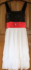 NWT My Michelle Girl's Sz 10 Sleeveless Dress-Red Ivory & Black - Pageant Easter