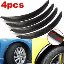 4x Universal Carbon Fiber Car Flares Wheel Fender Lip Guard Body Protect 24.5cm