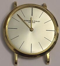 AUDEMARS PIGUET 18KT GOLD  ESTATE MENS WATCH NOT WORKING FOR PARTS REPAIR 32mm