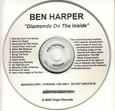 BEN HARPER Diamonds On The Inside UK 14-trk watermarked promo test CD