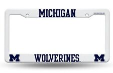 UNIVERSITY OF MICHIGAN OFFICIAL WHITE PLASTIC  LICENSE PLATE FRAME