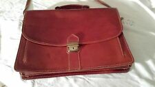 New With Tag Tuscany Leather Brown Leather Lockable Briefcase