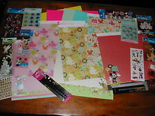 SCRAPBOOK DISNEY MICKEY MOUSE CHARACTERS PAPER STICKER HUGE Lot #4 *50%OF*FREESh
