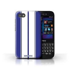 Coque de Stuff4 pour Blackberry Q5/Shelby/Bleu/Rayures Voiture Course