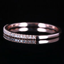 Half Eternity Diamonds Wedding Band 10k Rose Gold Engagement Anniversary Ring