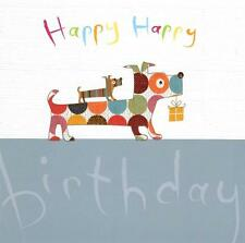 Happy Birthday Sausage Dogs Greeting Card Andrea Jayne Greetings Cards