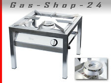 14 kW Edelstahl Gastro Propan-Hockerkocher Gaskocher Großküchen-Gasherd Profi