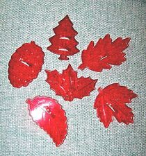 Set of 6 Red HRM Leaf Collection Cookie Cutters