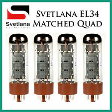 New 4x Svetlana EL34 | Matched Quad / Quartet / Four | Power Tubes | Free Ship