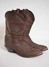 Dingo Brown Leather Slouch Pull On Western Boots Metal tips 17311 Women's size 7