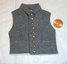 ITPT ACW Confederate gilet lourd tissu 9 bouton l'échelle 1 / 6e Jouet Accessoire