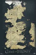 Game of thrones map Poster! Winterfell Riverlands Castle Black New Never Hung
