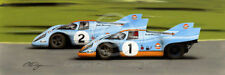 PORSCHE 917 GULF WYER PEDRO RODRIGUEZ JO SIFFERT LE MANS 1970 NEW PAINTING PRINT