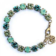 CATHERINE POPESCO PACIFIC OPAL AND OTHER CRYSTAL BRACELET  ON GOLD TONE- NEW
