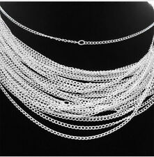 Lots 30/50/100/500/1000pcs Silver/Gold plated chain Necklace finding 48cm,2mm