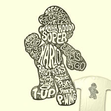 SUPER MARIO BROS Quotes of a Plumber Nintendo Video Game Hero TEEFURY T-SHIRT