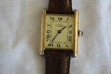 CARTIER LADIES TANK WATCH  18KT GOLD VERMEIL
