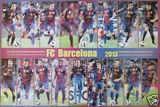 """FC BARCELONA """"17 SHOTS OF 2013 PLAYERS"""" POSTER -Soccer,UEFA Football,Messi,Puyol"""