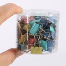60Pcs Binder Clip 15mm Metal Classic Office Stationery Paper Documents Clip