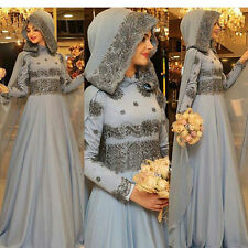High Neck Arab Wedding Dresses Beads Muslim Bridal Gown Long Sleeve With Cape