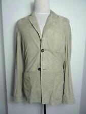 Malo Firenze Beige suede leather Men Jacket 50 IT 40 US M NEW
