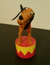 Disney Wooden Thumb Puppet Push Button Toys Pluto
