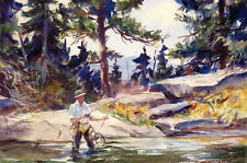 Trout Stream  by John Whorf  Giclee Canvas Print Repro