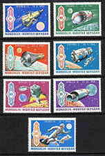 MONGOLIA 1969 SPACE ACHIEVEMENT STAMPS - MINT COMPLETE SET OF 7!