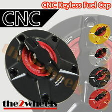 1/4 Turn CNC Keyless Racing Quick Open Gas Fuel Cap for Yamaha YZF R1 2000-2014