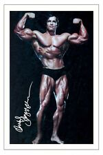 ARNOLD SCHWARZENEGGER YOUNG BODY BUILDER SIGNED PHOTO PRINT AUTOGRAPH POSTER