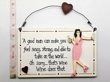 Good Man Plaque Friendship Novelty Birthday Gift Ideas for Friends Mum her