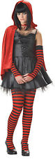 Little Dead Riding hood  goth Womans Adult XS teen 3-5 Halloween costume Red New