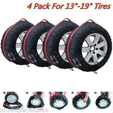 "4x Car Spare Wheel Tyre Protection Storage Bag Carry Tote Cover For 13""-19"" Tire"