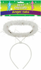 White Fluffy Halo Angel Head Band Hen Night Angel Fairy Christmas Fancy Dress