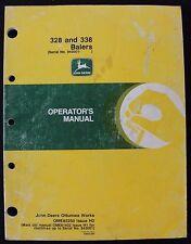 ORIG JOHN DEERE 328 338 BALER OPERATORS MANUAL AFTER SERIAL #943001