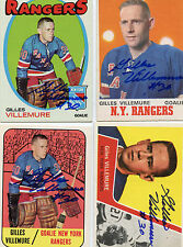 Rangers Gilles Villemure signed 1967 -68 OPC card