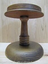 Old Wooden Store Display Pedestal department store drug store counter window b