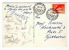 1952 OSLO Winter OLYMPIC Games CZECHOSLOVAKIA HOCKEY Team AUTOGRAPHS 4th place