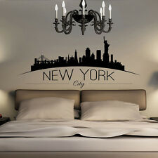 NYC America New York City Skyline Silhouette Bedroom Wall Art Sticker Wall Decal