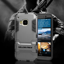 Full Body Hybrid Armor Protection Defender Case Stand Cover For htc one m9 NEW