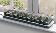 Windowsill Electric Heated Propogator 7 Vented Trays Grow Seeds Plant Germinate