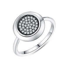 Fashion Women Silver Plated Sparkling CZ Pave Wedding Ring Jewelry Hot Size 7