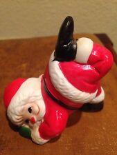 Vintage Dancing Santa Christmas Ornament Figurine Marked Frankel