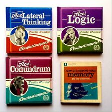 ACE BRAINSTUMPERS BOOK LOT ~ Lateral Thinking Logic Conundrum. Oz Seller!
