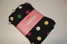Gymboree Merry and Bright Girls Size 2T Dot Leggings Dark Gray NWT