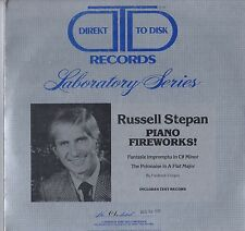 RUSSELL STEPAN piano fireworks 2 LP Audiophile USA D2D w/Test Record EX/EX