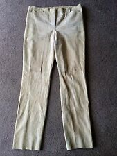 AUTH CALVIN KLEIN 100% LEATHER PANTS Sz 6 USA/42 IT MADE IN ITALY