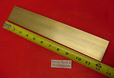 "1/4"" x 2"" C360 BRASS FLAT BAR 12"" long Solid .250"" Plate Mill Stock H02"