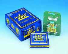 3 Cubes of blue triangle chalk for snooker pool cues